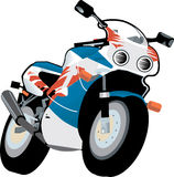Sports motorcycle Stock Image