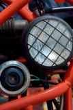 Sports motorcycle headlight Royalty Free Stock Photography