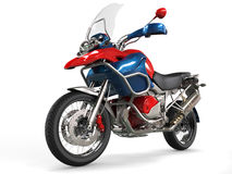 Sports motorcycle with windshield Stock Image