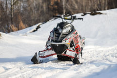 Sports mountain snowmobile Royalty Free Stock Photography