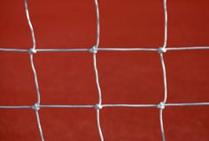 Sports net close-up. Detail of a net on a college stadium Stock Image