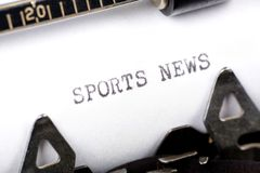 Sports News Royalty Free Stock Photo
