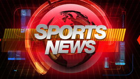 SPORTS News - Broadcast Graphics Title stock footage