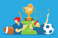 Sports news category illustration Royalty Free Stock Photography