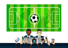 Sports news design, concept illustration Royalty Free Stock Images