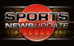 Sports News Graphic. High impact TV style Sports News Update graphic Royalty Free Stock Images
