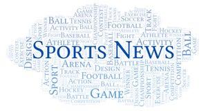 Sports News word cloud. stock illustration