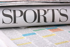 Sports newspaper Royalty Free Stock Photography