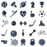 Sports noirs d'icônes Photographie stock