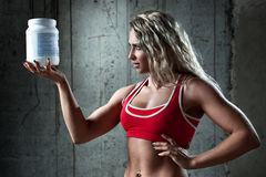 Sports nutrition Royalty Free Stock Photo