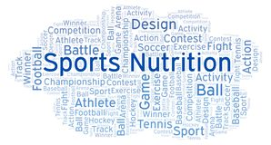 Sports Nutrition word cloud. vector illustration