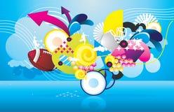 Sports objects  illustration Stock Photo