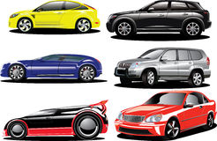 Sports and offroad cars Stock Image