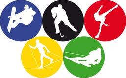 Sports olympiques de l'hiver Image stock