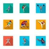 Sports olympiques Sports d'hiver et d'été Un ensemble de photos au sujet des athlètes Icône olympique de sports dans la collectio Photographie stock