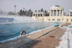 Sports outdoor pool in winter. For exercise and health Stock Photography