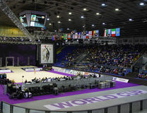 Sports Palace during Deriugina Cup in Kyiv Royalty Free Stock Photos