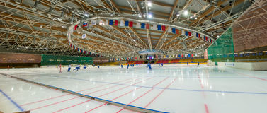 Sports Palace Dynamo in Krylatskoye Stock Images