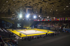 Sports Palace in Kyiv during Deriugina Cup Stock Image