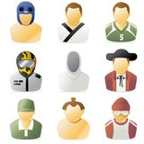 Sports People Icon 2. Series of sports people icon 2 Royalty Free Stock Images