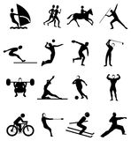 Sports people icons set Stock Photo