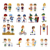 Sports People set Stock Image