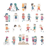 Sports People set, vector eps10 illustration Stock Image