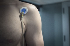 Sports performance fitness endurance evaluation heart rate test Stock Image