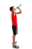 Sports person drinking water from bottle Stock Photos