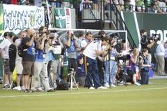 Sports photographers Stock Photo