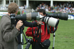 Sports photographers Royalty Free Stock Images