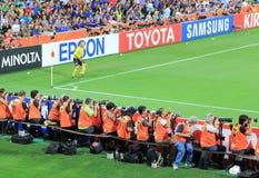 Sports photographers Stock Photography