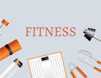 Sports and physical activity equipment Royalty Free Stock Photos