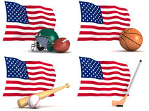 Sports played in The United States of America Royalty Free Stock Image