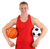 Sports player Royalty Free Stock Photography