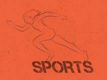 Sports Poster, Banner or Flyer design. Stock Image