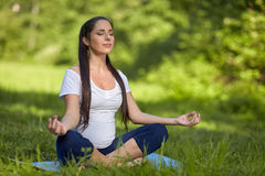 Sports pregnant young woman. Royalty Free Stock Photo