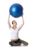 Sports pregnant young woman. Fitness. Royalty Free Stock Images