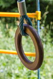 Sports projectile rings. On a street playground Royalty Free Stock Photography