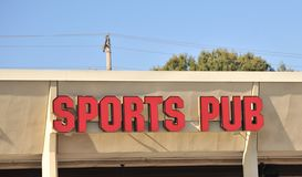 Sports Pub Sign Royalty Free Stock Images