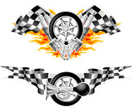 Sports Race Emblems Stock Images