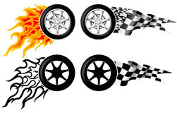 Sports Race Emblems Stock Illustration