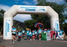 Sports Race in Santa Rosa de Calamuchita. Argentina Corre 2013 in Santa Rosa de Calamuchita stock image