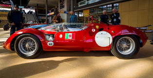 Sports racing car Maserati Tipo 63 Birdcage, 1959. Scuderia Serenissima. STUTTGART, GERMANY - MARCH 02, 2017: Sports racing car Maserati Tipo 63 Birdcage, 1959 Stock Image