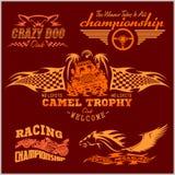 Sports racing emblem - vector set Stock Image