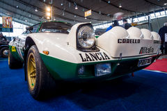 Sports and rally car Lancia Stratos HF Tipo 829, 1975. Royalty Free Stock Images