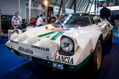 Sports and rally car Lancia Stratos HF Tipo 829, 1975. Stock Images