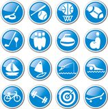 Sports and recreation icon set Royalty Free Stock Image