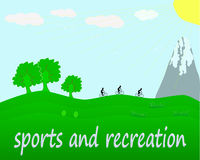Sports and recreation Stock Image