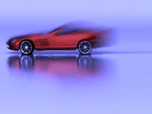Sports Red Cabriolet Royalty Free Stock Images